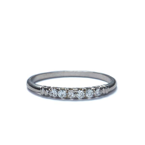Circa 1940s Diamond Wedding band #R420B - Leigh Jay & Co.