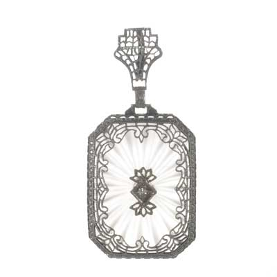 Art Deco Crystal Pendant #R421-06 - Leigh Jay & Co.