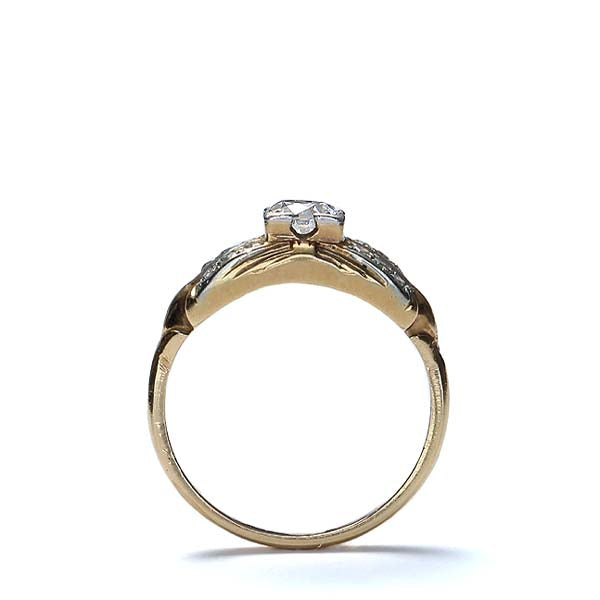 Circa 1940s Diamond engagement ring. #R424-04 - Leigh Jay & Co.
