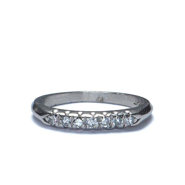 Art Deco Platinum Wedding band #R470-02 - Leigh Jay & Co.