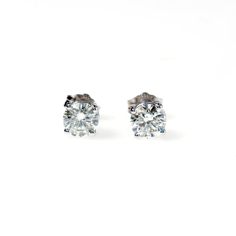 Diamond Stud Earrings 1.40 carats total weight
