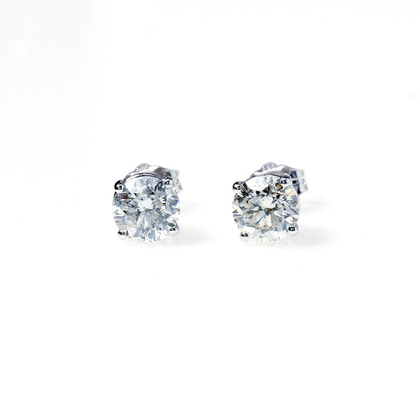 Diamond Stud Earrings 1.80 carats total weight