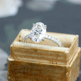 Contemporary Micro Pave Diamond Engagement Ring #3470-1
