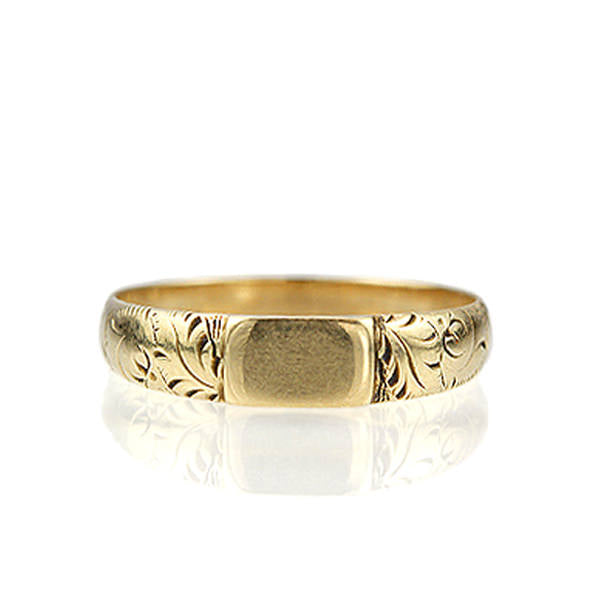 Antique Gold Band #V141013-01 - Leigh Jay & Co.