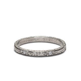 Art Deco Engraved Band #VB180117-4 - Leigh Jay & Co.