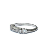 Midcentury Diamond Wedding band #VB180302-2 - Leigh Jay & Co.