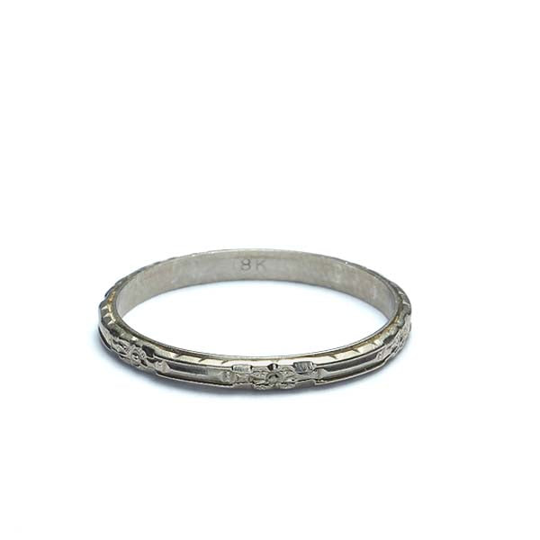 Art Deco Wedding Band #VB180504-3 - Leigh Jay & Co.