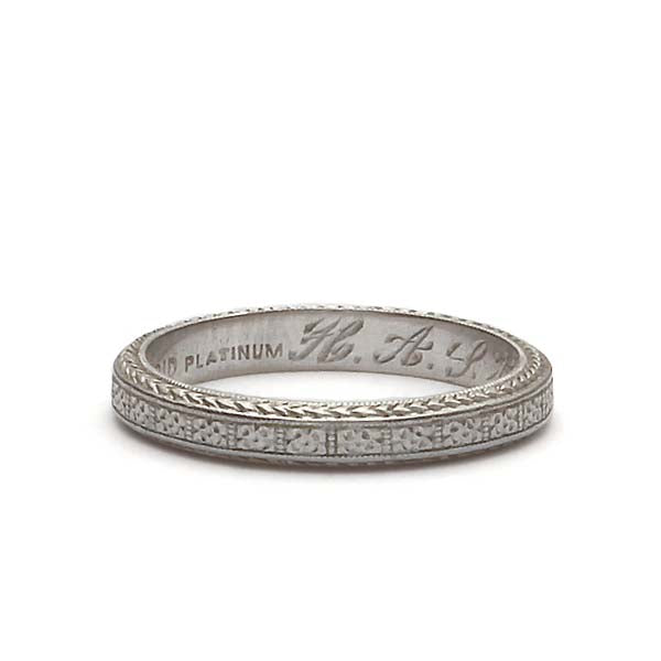 Art Deco Wedding Band #VB180618-4 - Leigh Jay & Co.