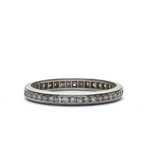 Platinum Art Deco Eternity Band #VB180730-4 - Leigh Jay & Co.