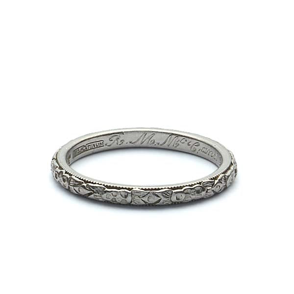 Art Deco Wedding Band #VB180801-2 - Leigh Jay & Co.