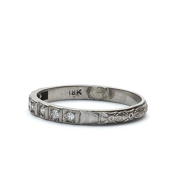 Art Deco Diamond Wedding Band #VB180813-5