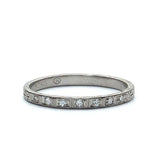 Platinum Art Deco Wedding Band #VB180813-6