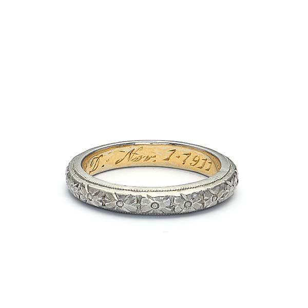 Vintage Edwardian Wedding Band #VB181119-10 - Leigh Jay & Co.