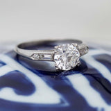 Midcentury Engagement Ring #VR181121-2 - Leigh Jay & Co.