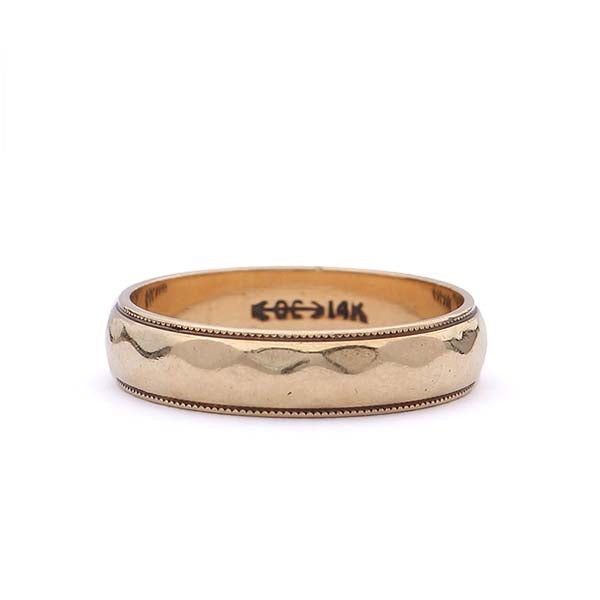 Midcentury Mens Wedding Band #VB190219-1 - Leigh Jay & Co.