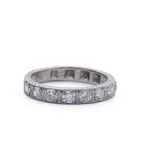 Art Deco Wedding Band #VB190422-1 - Leigh Jay & Co.