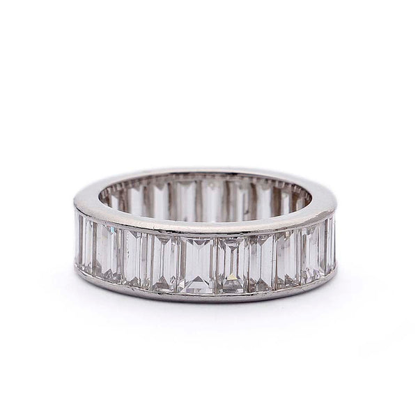 Channel Set Baguette Diamond Band #VB190710-12 - Leigh Jay & Co.