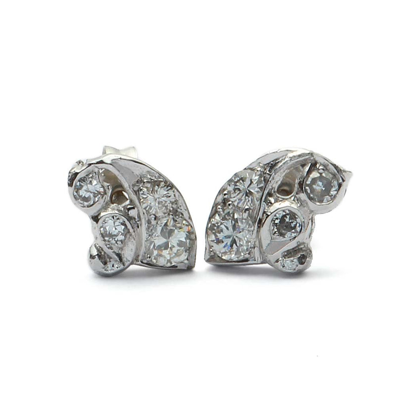 Antique Diamond Earrings #VE180829-2 - Leigh Jay & Co.