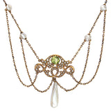 Art Nouveau Peridot Necklace #VP160630-05 - Leigh Jay & Co.