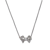 Edwardian Diamond Bow Necklace #VP191025-4 - Leigh Jay & Co.