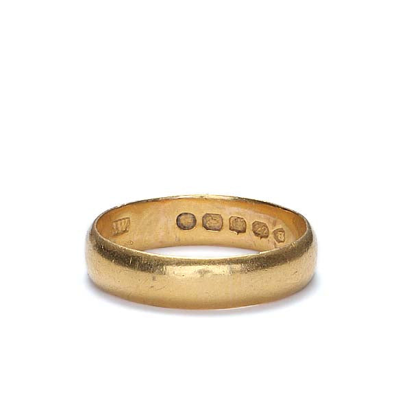 Vintage 22K Wedding band.  Made in England #VR0104-01 - Leigh Jay & Co.