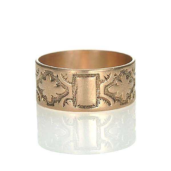 Victorian rose gold wedding band. #VR0130-02