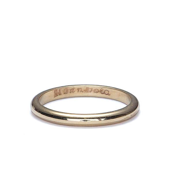 Vintage 14k yellow gold wedding band. #VR0401-01 - Leigh Jay & Co.