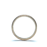 Circa 1922 18k white gold wedding band. #VR0401-05 - Leigh Jay & Co.