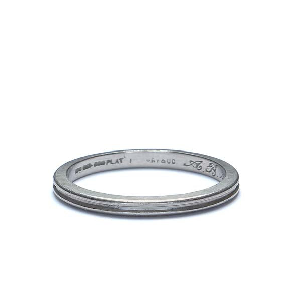 C. 1959 platinum Wedding band by Tiffany & Co. #VR0503-04 - Leigh Jay & Co.