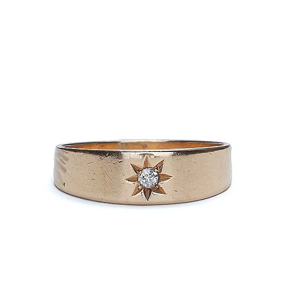Antique Gold and diamond band #VR0611-03 - Leigh Jay & Co.