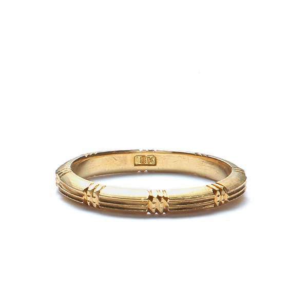 Vintage 18K yellow gold wedding band #VR0806-04b - Leigh Jay & Co.