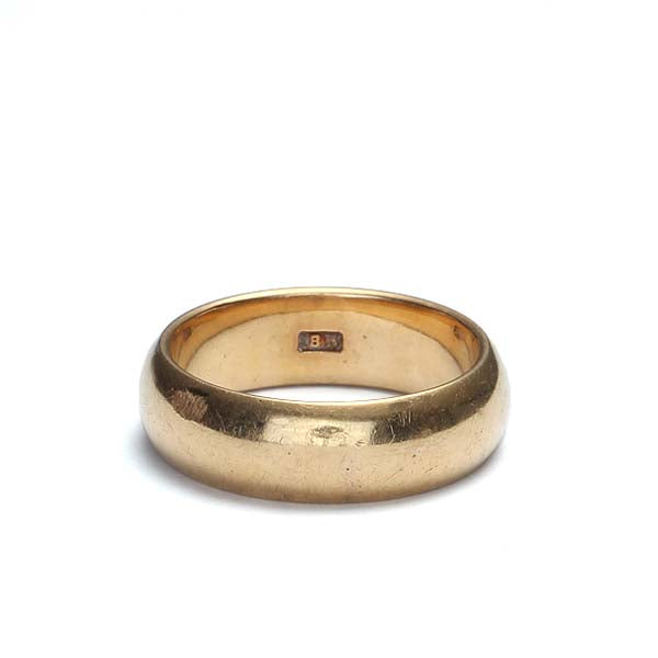 Antique 18k yellow gold wedding band #VR0830-04 - Leigh Jay & Co.