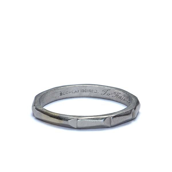 Circa 1940s Platinum Wedding band #VR0912-02 - Leigh Jay & Co.