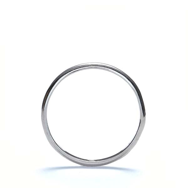 Estate 14k White gold wedding band. #VR1001-03 - Leigh Jay & Co.