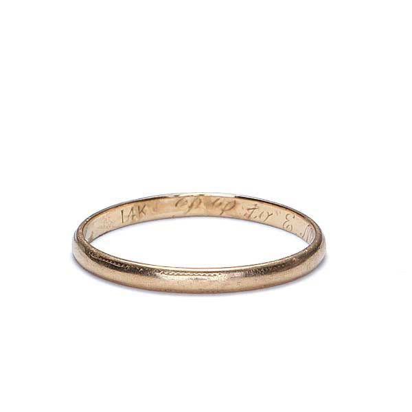 Circa 1944 Gold Wedding band #VR1001-06 - Leigh Jay & Co.