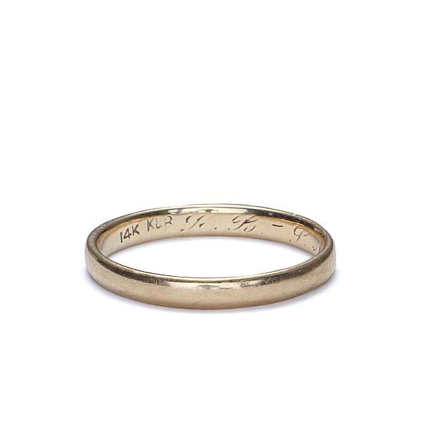 Circa 1937 wedding band #VR1001-08 - Leigh Jay & Co.
