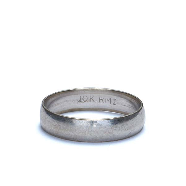 Estate 10K with gold wedding band #VR1008-07 - Leigh Jay & Co.
