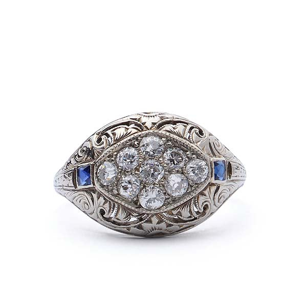Circa 1920s Diamond Dome ring #VR1011-01