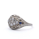 Circa 1920s Diamond Dome ring #VR1011-01 - Leigh Jay & Co.
