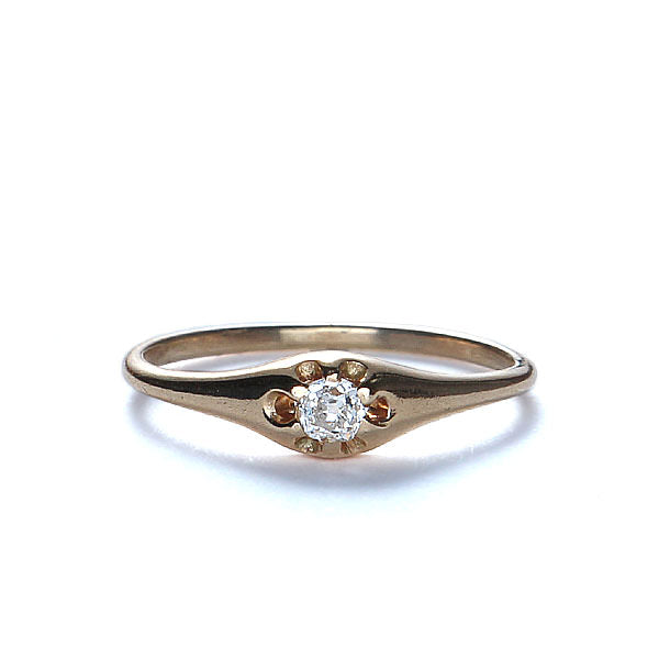 Vintage Belcher Head Diamond ring #VR10128-03 - Leigh Jay & Co.