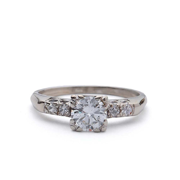 Circa 1950s Diamond engagement ring. #VR10206-04 - Leigh Jay & Co.