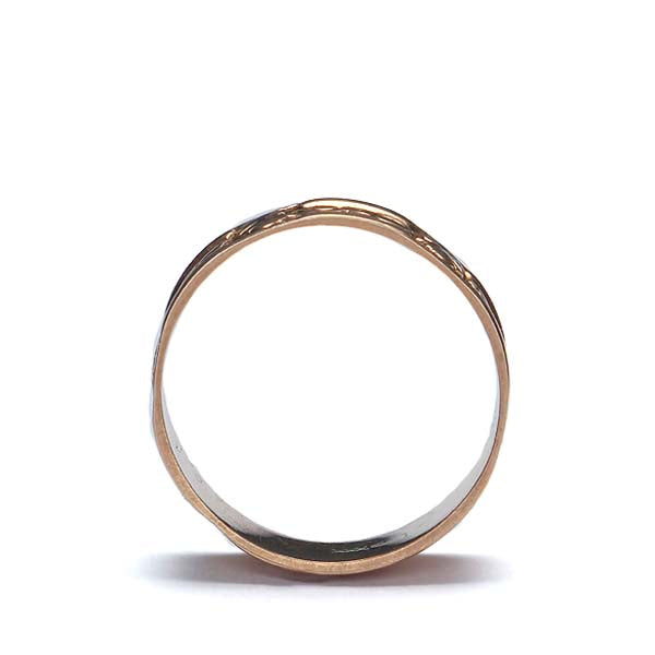 Antique 10K rose gold wedding band #VR10206-08 - Leigh Jay & Co.