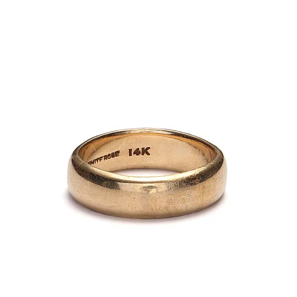 Vintage 14k yellow gold wedding band #VR10211-01 - Leigh Jay & Co.
