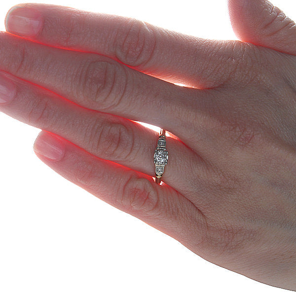 Circa 1940s Diamond engagement ring #VR1029-01 - Leigh Jay & Co.