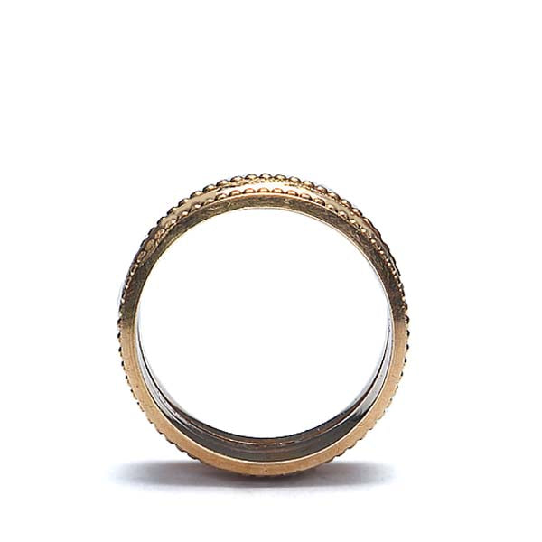 "Mid-Century ""Triple Band"" Ring #VR10311-01"