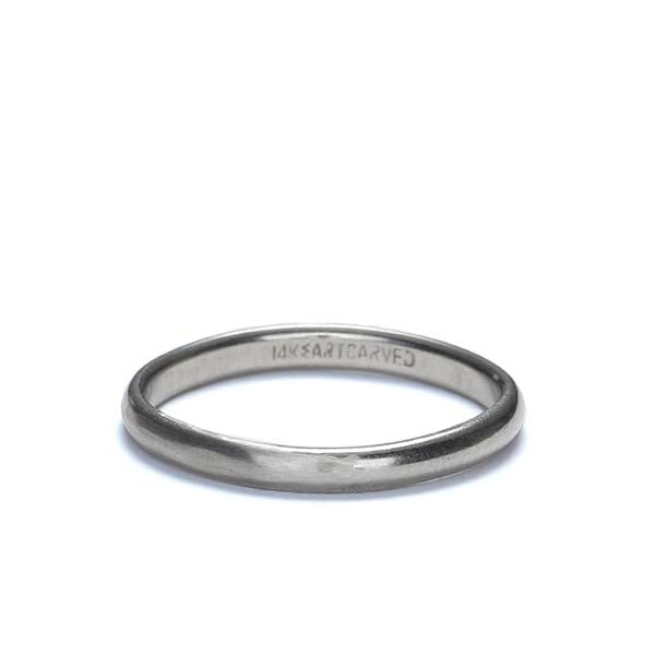Midcentury 14k White gold wedding band #VR10325-01 - Leigh Jay & Co.