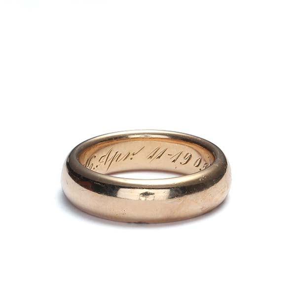 Antique  Wedding  Band #VR10408-03 - Leigh Jay & Co.