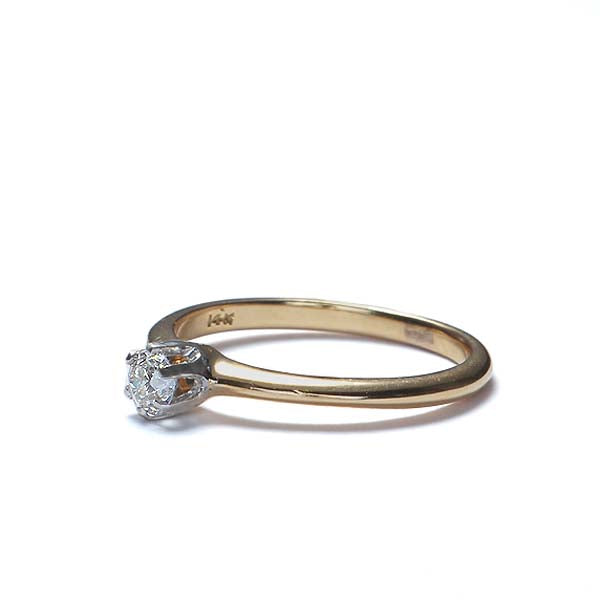 Circa 1930s Solitare engagement ring. #VR10410-03 - Leigh Jay & Co.