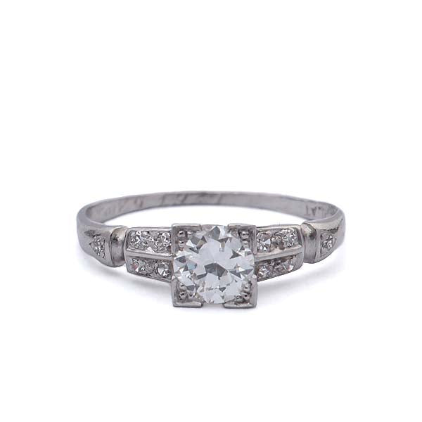C. 1930s Diamond engagement ring. #VR10414-02 - Leigh Jay & Co.
