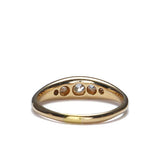 Vintage 18k gold wedding band with Old Mine cut diamonds. #VR1130 - Leigh Jay & Co.